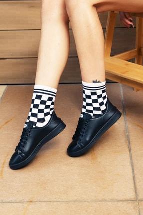 Ayakkabı Modası Siyah Kadın Ayakkabı M4000-19-110003R 1
