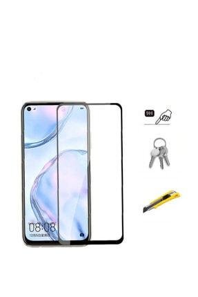 Dijimedia Huawei P40 Lite Komple Kapatan Kenarları Kırılmaya Dayanıklı Cam Ekran Koruyucu Siyah 1