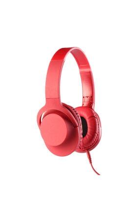 MF PRODUCT 0105 Mikrofonlu Kablolu Kulak Üstü Kulaklık Kırmızı 1