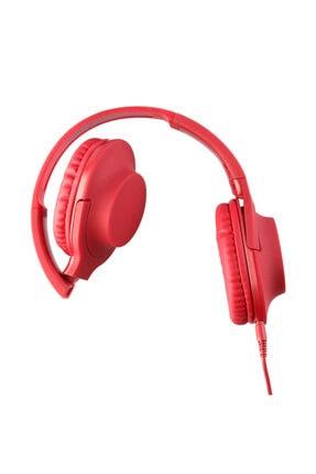 MF PRODUCT 0105 Mikrofonlu Kablolu Kulak Üstü Kulaklık Kırmızı 2