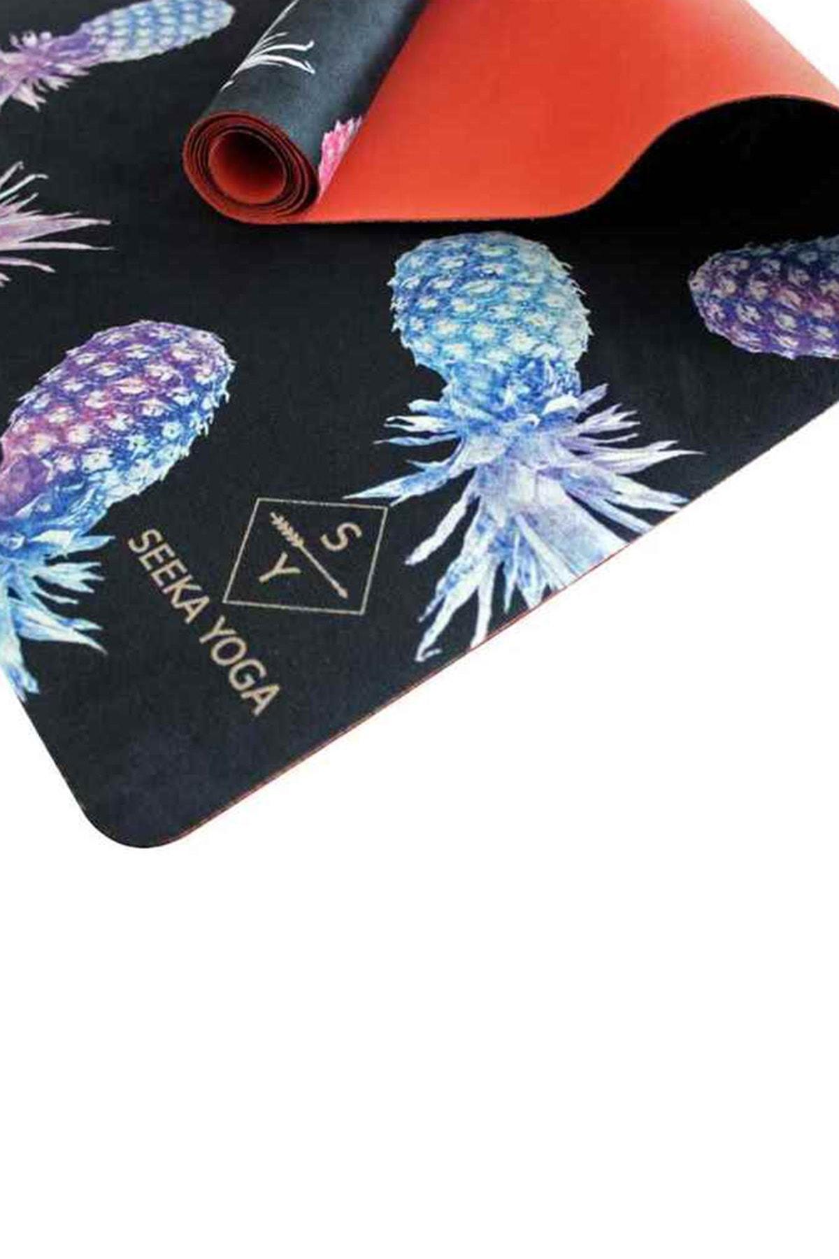 Seeka Yoga Seeka Mikrofiber Yüzeyli Travel Yoga Matı - Pıneapple 1