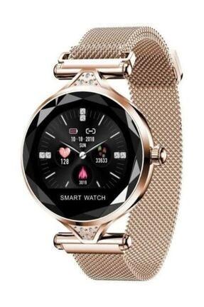 Kingshark H1 Smart Watch H1 Bayan Akilli Saat Nabiz Olcer Uyku Ve Spor Faaliyetleri Gold Renk Trendyol
