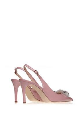 Cengiz Gümüş Kadın  Pembe Rugan Tüylü Ayakkabı 2