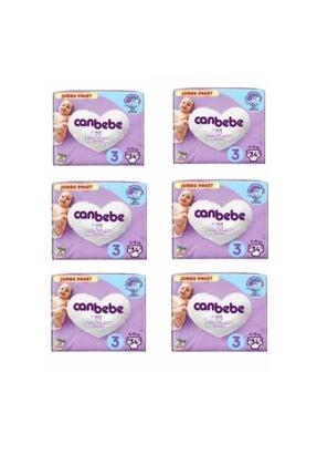 Canbebe Jumbo Paket 3 Numara Bebek Bezi 204 Adet 0
