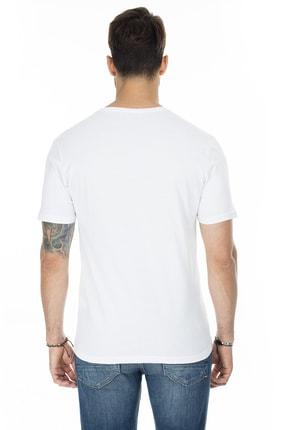 Buratti Erkek BEYAZ V Yaka Slim Fit Pamuklu Basic T Shirt 5722512V 1