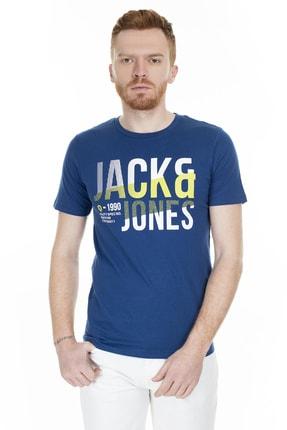 Jack & Jones Tişört Foke Crew Neck 12172215-NVY 3