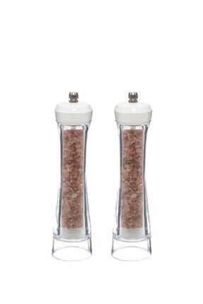 Herevin Ikili 21cm Beyaz Kapaklı Biber Öğütücü 0