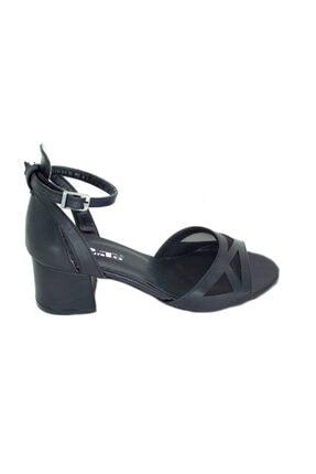 PUNTO Kadın Siyah Kalın Topuk Ayakkabı 1