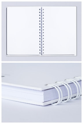 Mespho Yeah Yazılı A4 Ebat Spiralli Sert Kapak Defter (21 x 29,7 cm.) 1