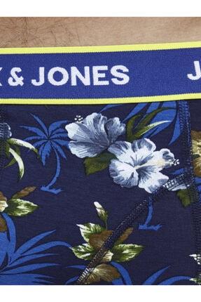 Jack & Jones 3'lü Boxer - Flowers Trunks 12171253 4