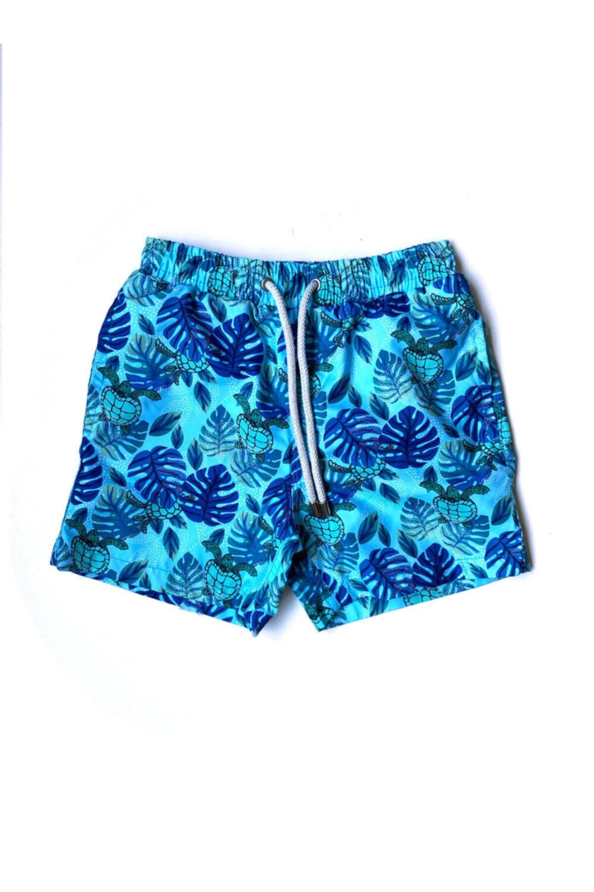 Blue Palm Erkek Çocuk Mayo Şort - Mıx