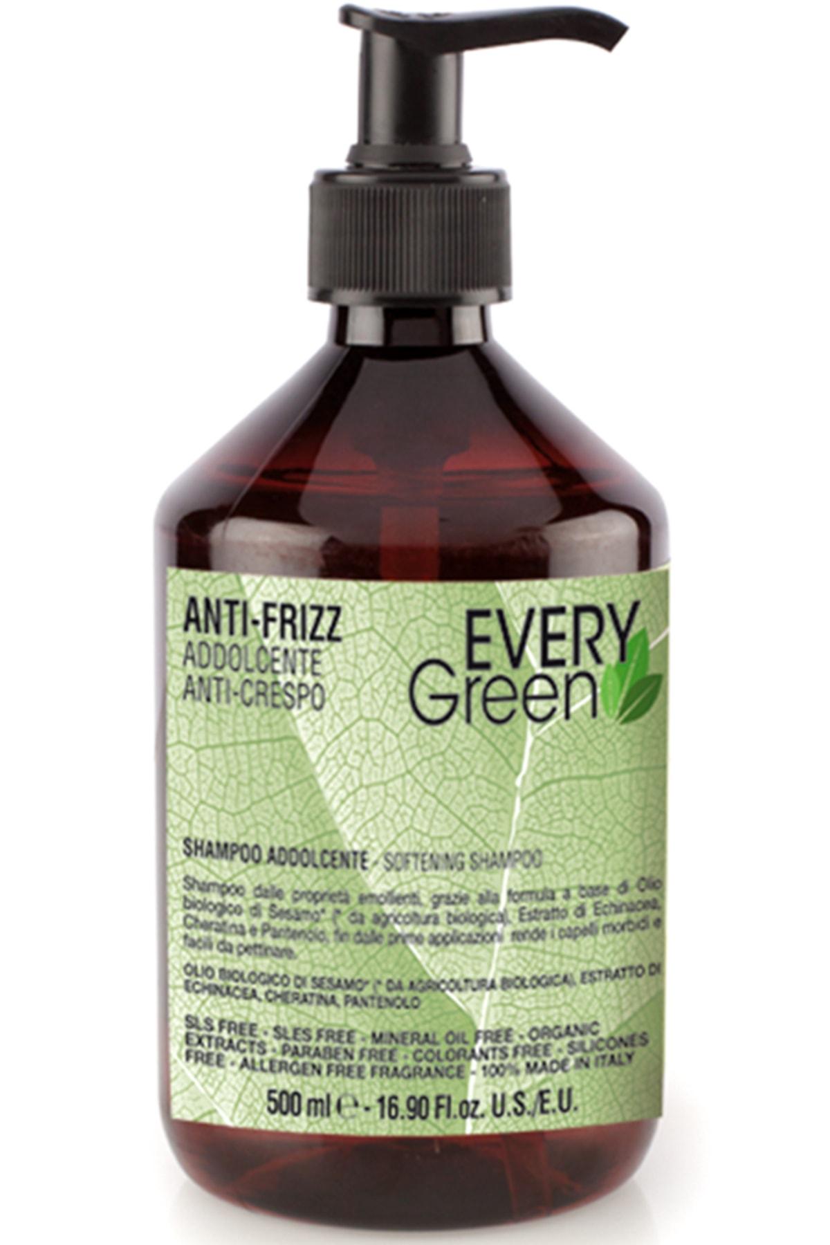 EveryGreen Kabarma ve Elektriklenme Karşıtı Anti Frizz Şampuan- Asi Kabaran Saçlar 500 Ml 0