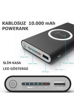 BLUE İNTER Wireless Kablosuz 10000 Mah Güneş Enerjili Solar Powerbank Elektrik Ile De Şarj Edilebilir I-020 1
