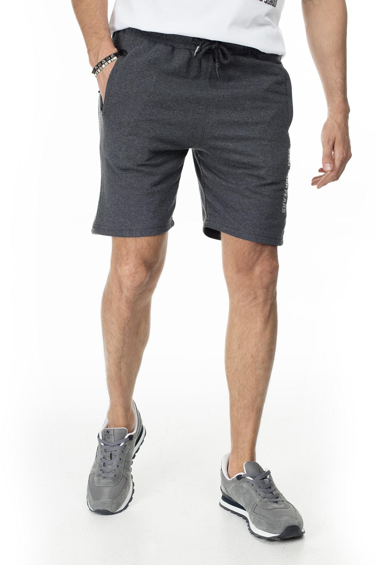Buratti Erkek Siyah Elestan Cep Belden Bağlama Günlük Spor Slim Fit Short 568R165 1