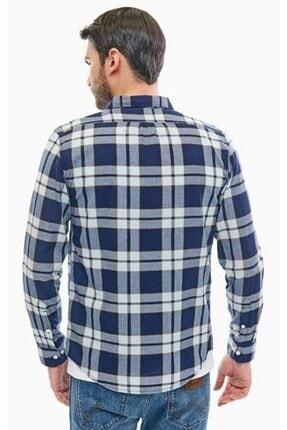Lee Wrangler Erkek Mavi Button Down Gömlek 1
