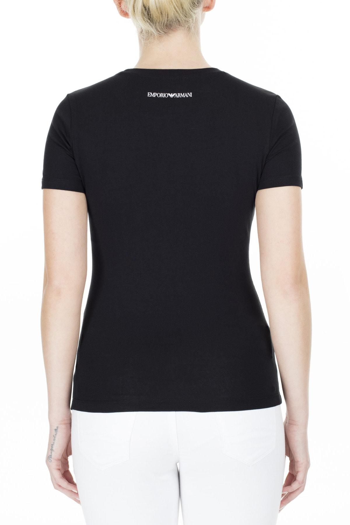 Emporio Armani Kadın Siyah T-Shirt 3H2T8A 2J07Z 0999 1
