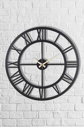 Muyika Design Muyika Roma Rakamlı Metal Siyah Duvar Saati 50x50 cm 1