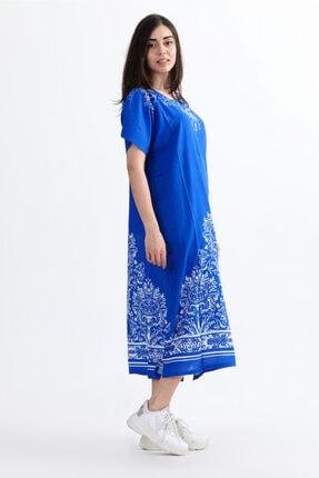 Arven Kadın Yarım Kol Geniş Kesim Elbise 1