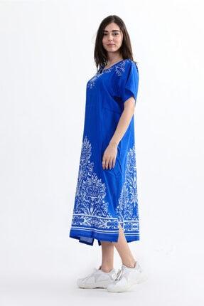 Arven Kadın Yarım Kol Geniş Kesim Elbise 2