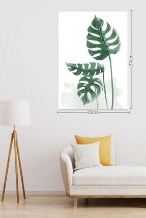 RetroKent Suluboya Görünüm Botanik Yaprak Seti Tablo 1