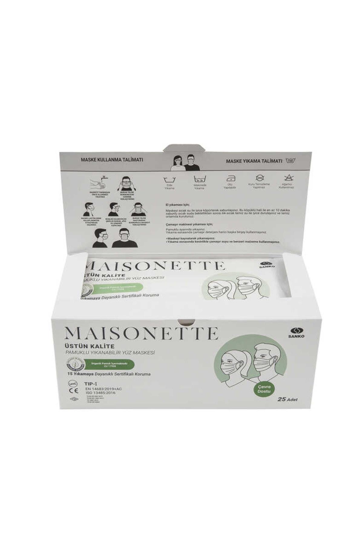 Maisonette Yıkanabilir Pamuklu Yüz Maskesi 25 li Paket 1