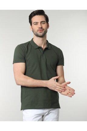 Tudors Erkek Yeşil Polo Yaka Düz Spor Erkek T-shirt 1