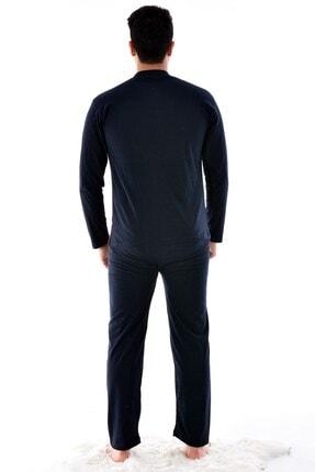 Pemilo Erkek Lacivert  Uzun Kol Süprem Pijama Takımı 920 1