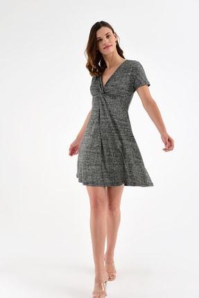 Laranor Kadın Desen-3 Yaka Detay Desenli  Elbise 18L6315 0