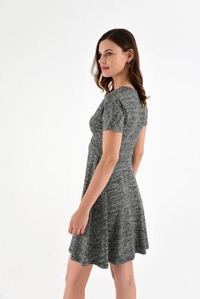 Laranor Kadın Desen-3 Yaka Detay Desenli  Elbise 18L6315 3