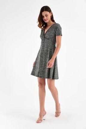 Laranor Kadın Desen-3 Yaka Detay Desenli  Elbise 18L6315 4