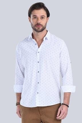 M Store Saks Mavi Uzun Kol Klasik Gömlek 250.04.20179-322 1