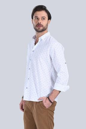 M Store Saks Mavi Uzun Kol Klasik Gömlek 250.04.20179-322 3