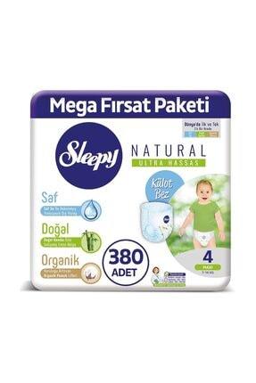 Sleepy Natural Külot Bez 4 Numara Maxi Mega Fırsat Paketi 380 Adet 1