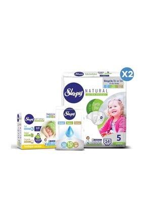 Sleepy Natural Bebek Bezi 5 Numara Junior Ekonomi Paketi 3