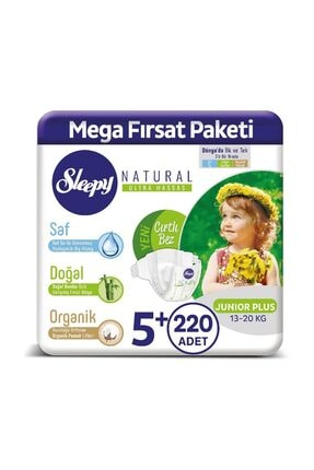 Sleepy Natural Bebek Bezi 5+ Numara Junior Plus 220 Adet 0