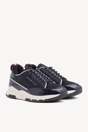 Tommy Hilfiger Kadın Cool Technical Satın Sneaker 1
