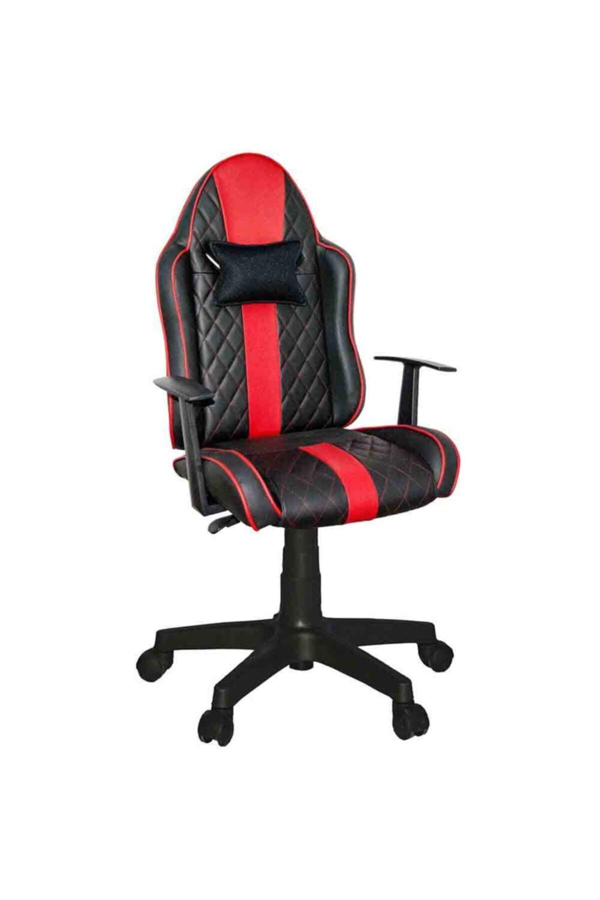 Quattro Mini Yönetici Ve Oyuncu Koltuğu Siyah Kırmızı
