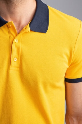 Dufy SARI POLO YAKA ERKEK T-SHIRT - SLIM FIT 2