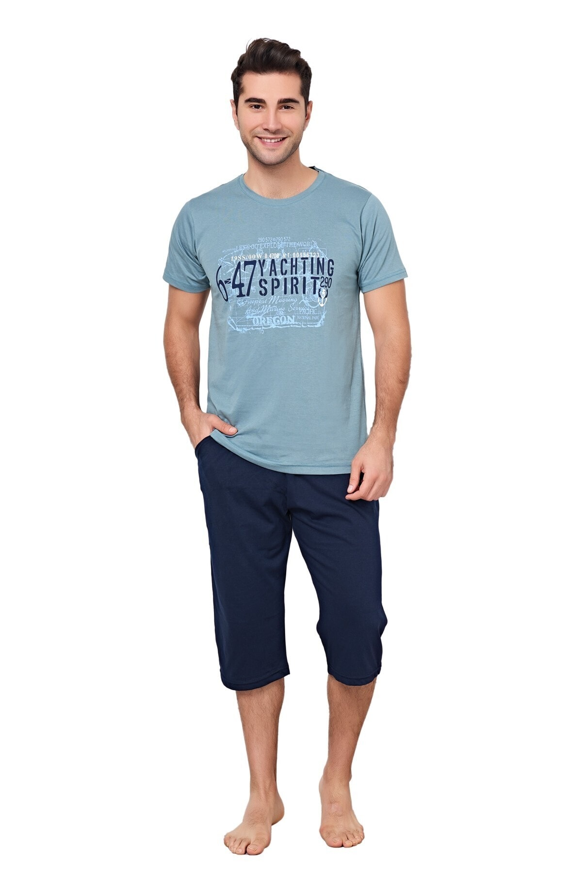 Yachting Mavi/lacivert Pijama Takımı
