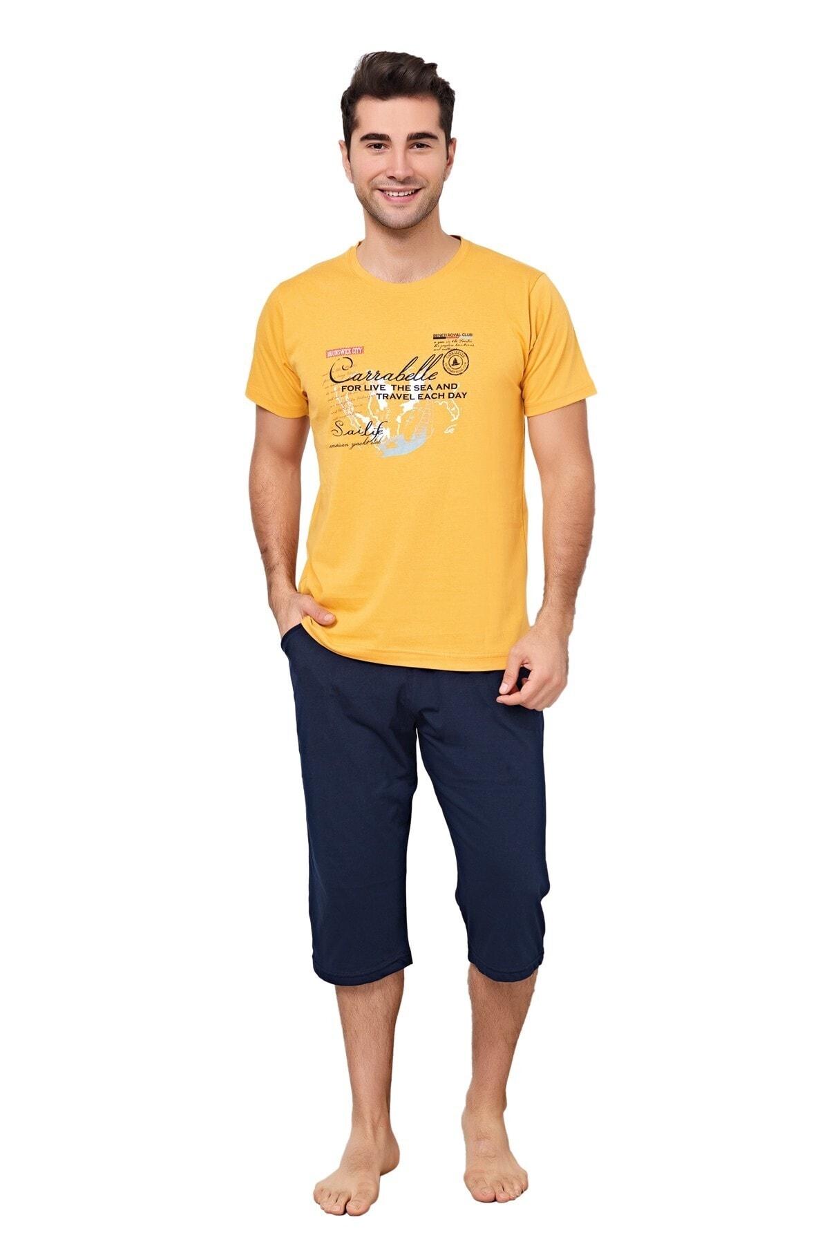 Sealife Sarı/lacivert Pijama Takımı