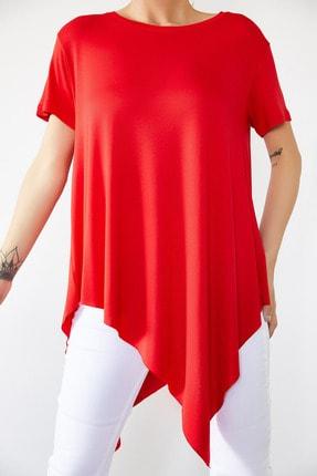Xena Kadın Kırmızı Asimetrik Bluz 0YZK2-10096 0