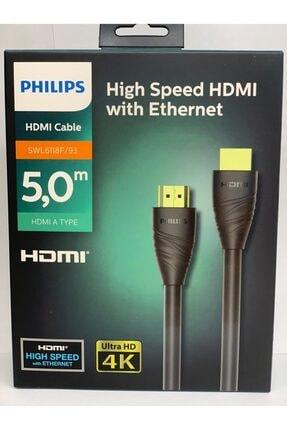 Philips Hdmı Kablo Altın Uçlu 4k Ultra Hd Kablo 5 m - Swl6118f 0