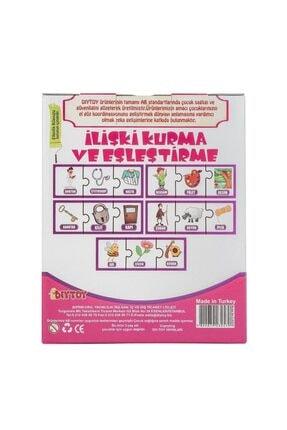Diytoy 3'lü Ilişki Kurma Ve Eşleştirme Oyunu 45 Parça Çocuk Puzzle 1