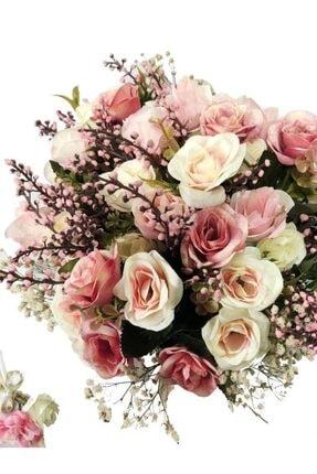 Nettenevime Gelin Buketi Gelin Çiçeği Yapay Çiçek - Damat Yaka Çiçeği 1