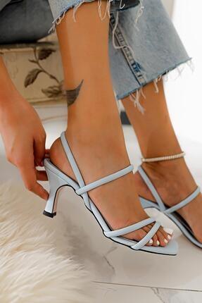 Limoya Hadleigh Bebe-mavi Bantlı Kısa Ince Topuklu Sandalet 4