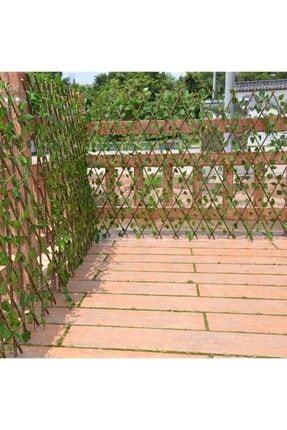 Nettenevime Yapay Çiçek Akordiyon Çit Yapay Sarmaşık lı Duvar Dekoru 210x90 cm 1