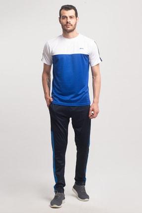 Slazenger Texas Erkek T-shirt Saks Mavi St10te143 1