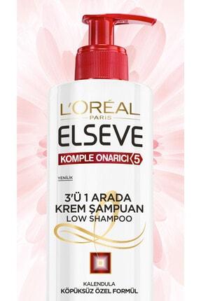 Elseve Komple Onarıcı 5 3'ü 1 Arada Low Shampoo Krem Şampuan 3600523585281 1