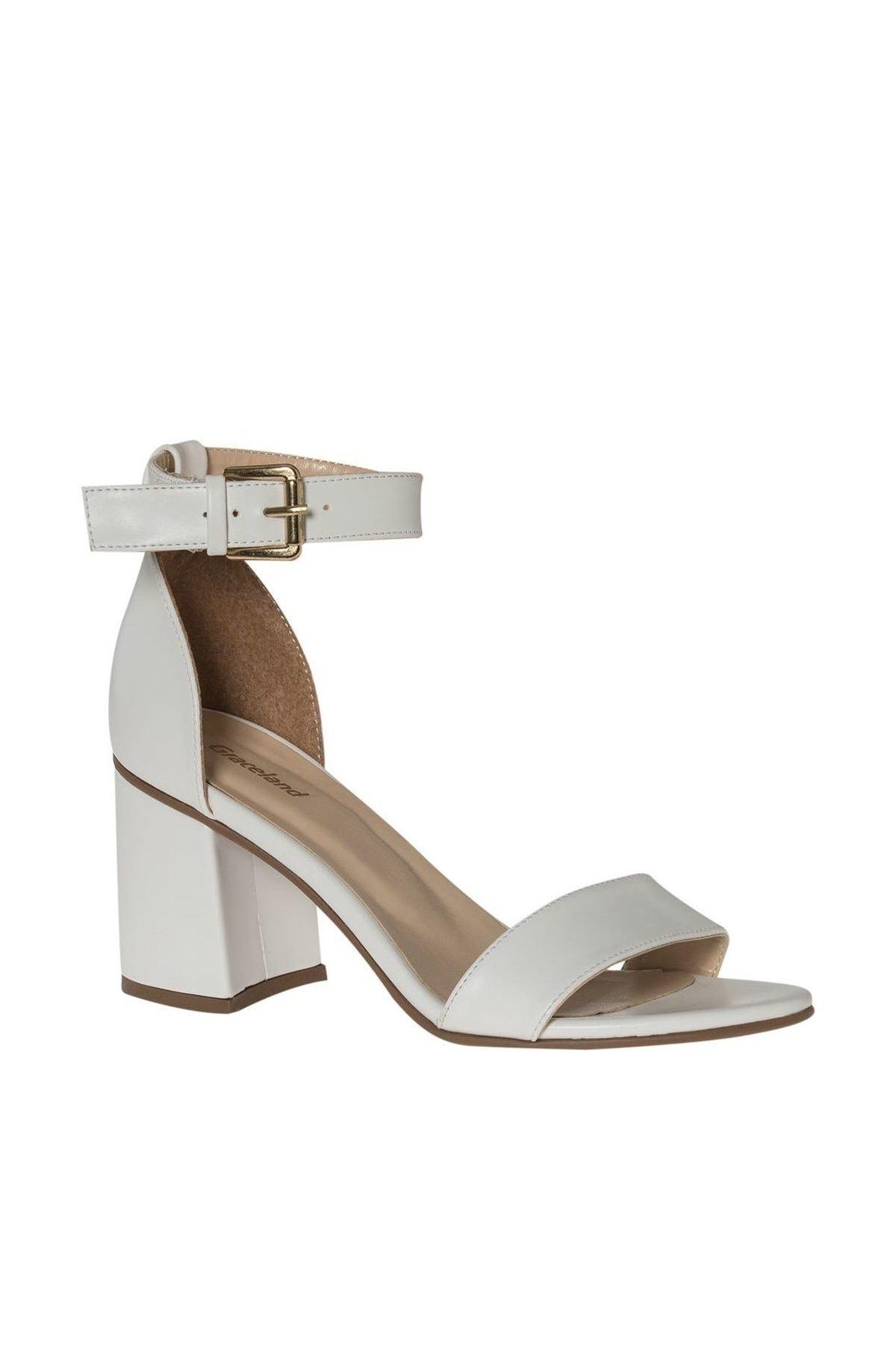Graceland Deichmann Beyaz Kadın Topuklu Sandalet