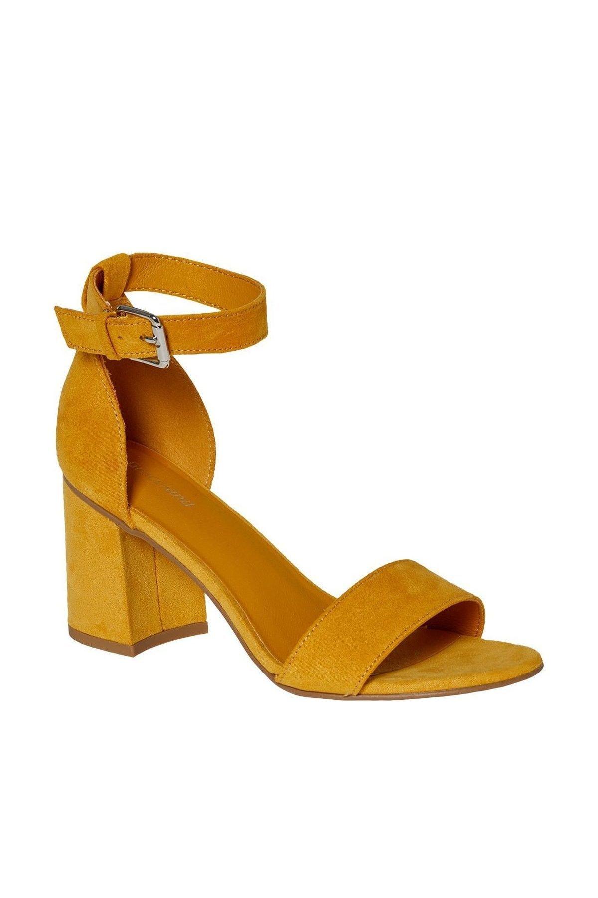 Graceland Deichmann Sarı Kadın Topuklu Sandalet